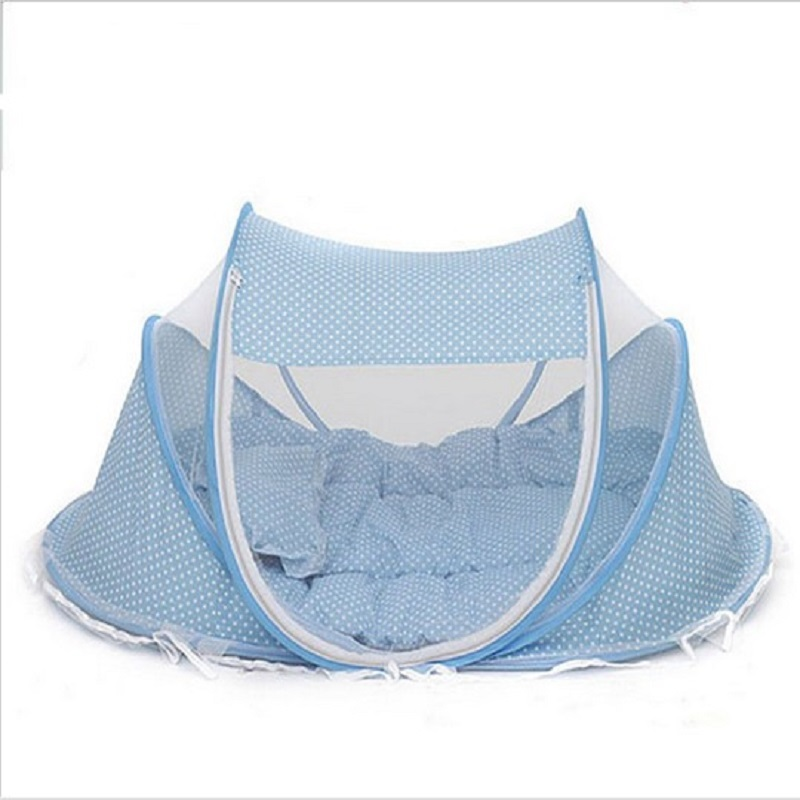 2018 Spring Winter 0-3Years Baby Bed Portable Foldable Baby Crib With Netting Newborn Sleep Bed Travel Bed Baby 100%Cotton BD10 baby bed curtain kamimi children room decoration crib netting baby tent cotton hung dome baby mosquito net photography props