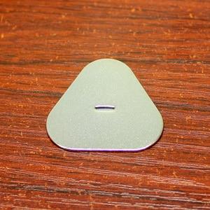 Image 3 - 50 قطعة/الوحدة 18650 ليثيوم بطارية غطاء البطارية حزمة 3 S مثلث الإيجابية والسلبية ورقة الكربون الصلب تصفيح بقعة لحام