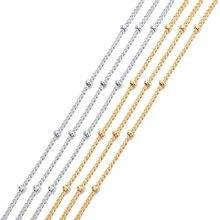 LOULEUR 2018 nouveau 5 m/lot haute qualité perles chaînes Rhodium/KC or couleur cuivre chaînes pour bijoux à bricoler soi-même collier Makings