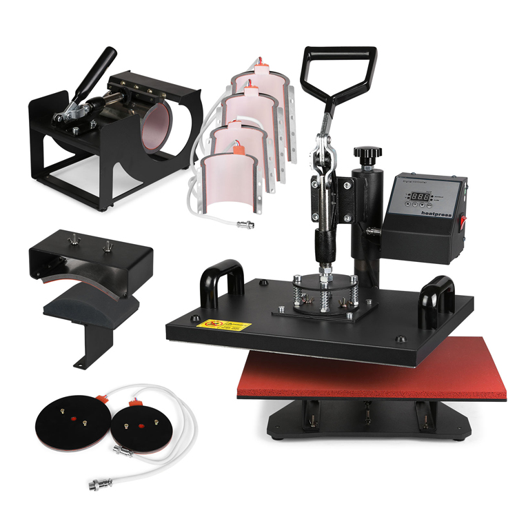 """9 in 1 Digital Heat Press Machine Multifunctional Transfer Sublimation for T Shirt Mug Cup Hat Cap 15""""X12"""" (38X30cm) Heat Platen sublimation transfer sublimation transfer machine sublimation heat press machine - title="""