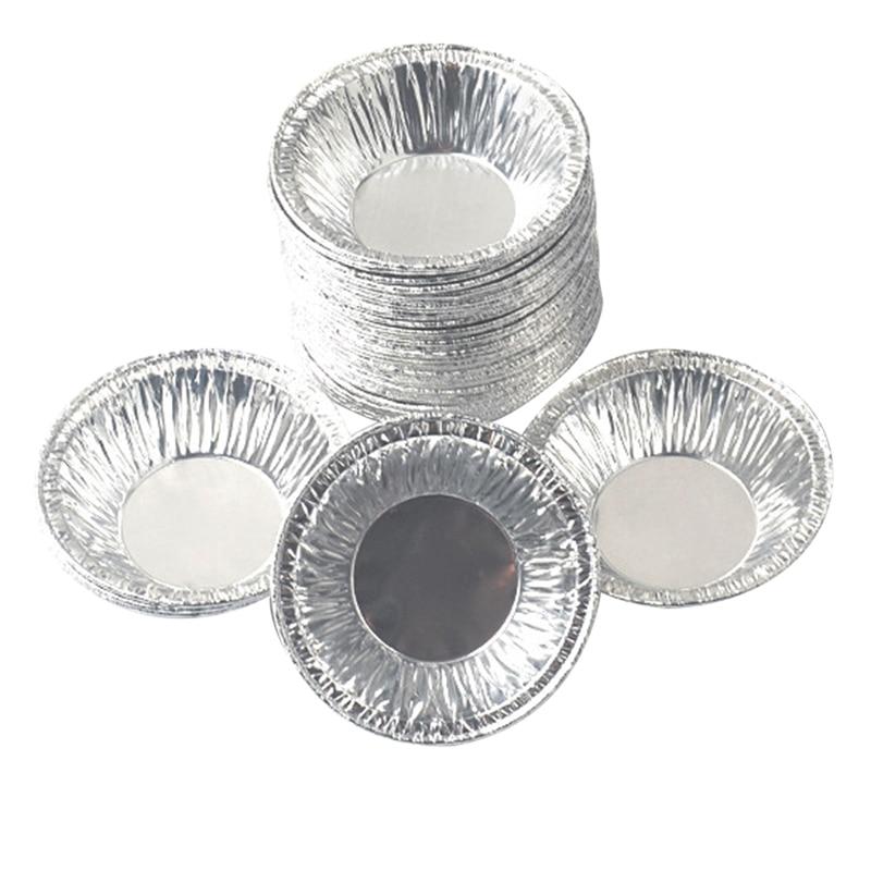 100 Pcs Set Disposable Aluminum Foil Baking Cups Muffin