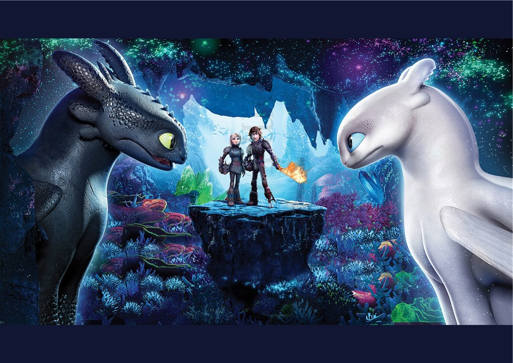 Glossy Paper Posters How to Train Your Dragon the Hidden World Decorative Painting Posters Wall Sticker HD Glossy Paper Wall in Wall Stickers from Home Garden