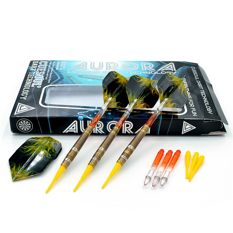 New CUESOUL 90% Tungsten 3PCS/set 20g 14cm Darts Professional Game Soft Tip Darts Electronic Darts With Nylon Shafts CSAR-N2104 cuesoul 24 26 28g professional 85% tungsten steel tip darts 145mm with nylon shafts csgl n2209