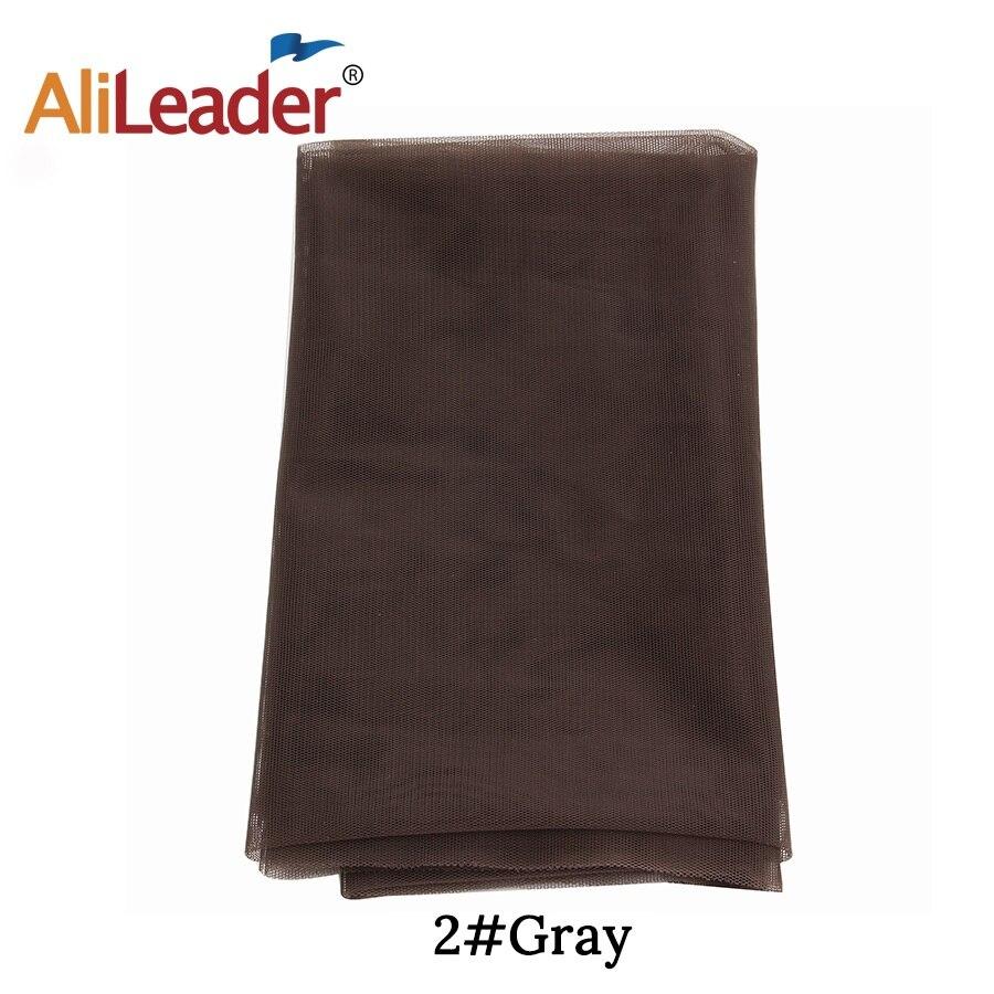 AliLeader дешевые 1/4 ярдов сделать кружева передние человеческие волосы парики основа для волос Прозрачная швейцарская кружевная сеть для парика изготовление материала - Цвет: Gray Color