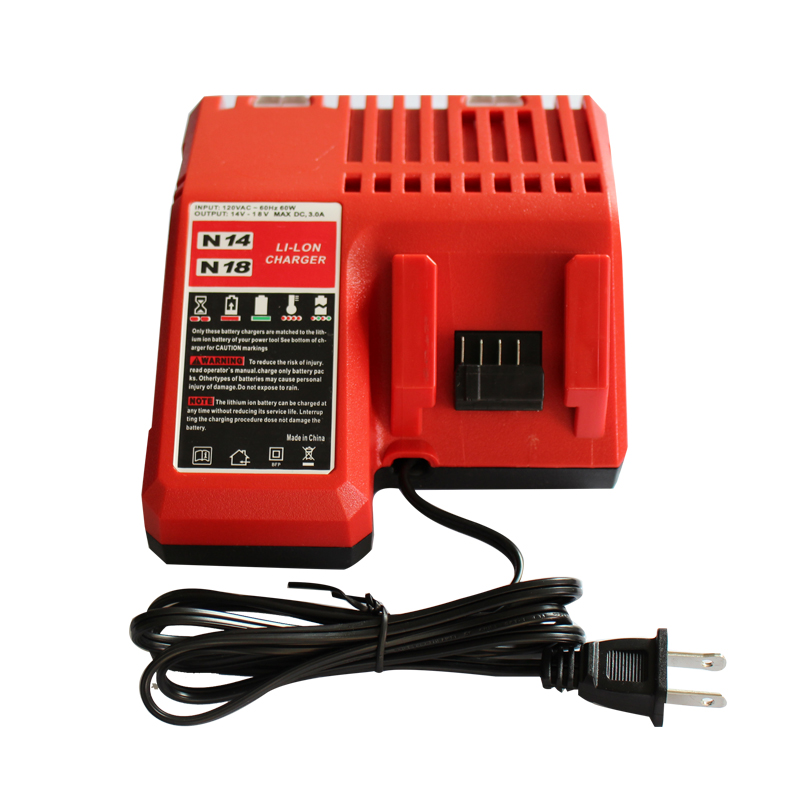 Power Tool Accessory Lithium-ion Battery Charger 14.4V 18V for Milwaukee C18C C1418C 48-11-1815/1828/1840 M18 M14 Serise Parts 30a 3s polymer lithium battery cell charger protection board pcb 18650 li ion lithium battery charging module 12 8 16v