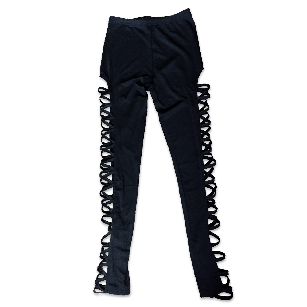 f9bd6ee02bc3a3 Women Lacing Leggings Bandage Side Lace Up Pants Yoga Fitness Leggings  Running Gym Sports Trousers Workout Pants 043 812-in Yoga Pants from Sports  ...