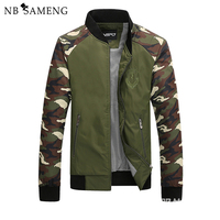 2017 New Arrival Stand Collar Jacket Men Camouflage Style Jacket Retro Slim Casual Army Green Jacket