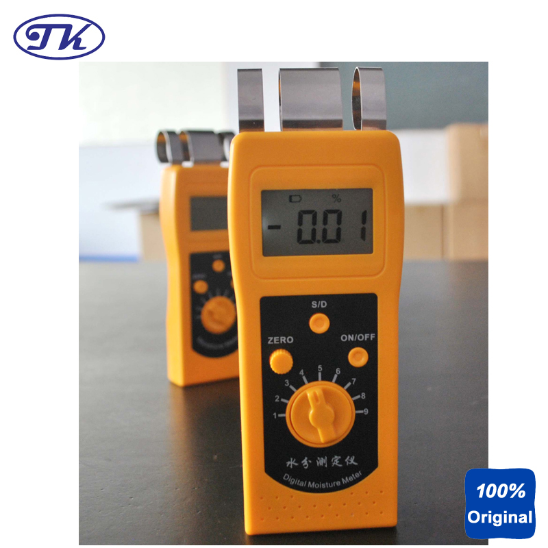 NEW High Quality Digital Moisture Meter Portable Moisture Tester Paper Moisture Analyzer DM200P professional 2 in 1 soil moisture meter and ph level tester agriculture hydroponics farming analyzer for plants