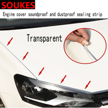 Rubber Car Head Hood Edge Sound Seal Strip Sticker For Alfa Romeo 159 147 156 166 GT Mito Acura MDX RDX TSX Fiat 500 Punto Stilo gt1749mv turbo cartridge 777251 for alfa romeo 147 156 gt fiat doblo multipla stilo lancia lybra 1 9 jtd 2005 m737at19z 120 hp