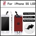 10 pçs/lote um +++ qualidade para iphone 5s display lcd com tela de toque digitador assembléia dhl navio livre oem