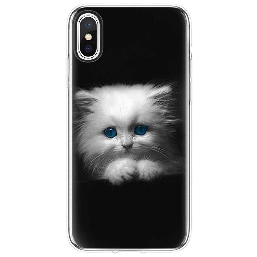 Для Coque iPhone X XS Max XR 5 SE 6 S 8 7 Plus для Motorola Moto c E4 E5 G3 G4 Play G5 G5S Plus TPU Прекрасный Роскошный чехол для телефона с кошкой