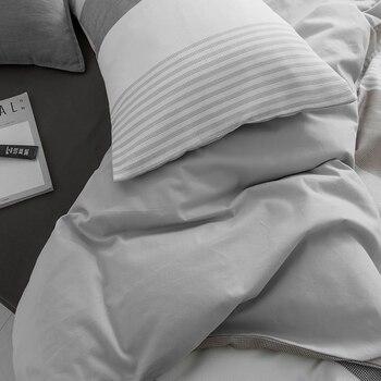 Almohadas Grises Y Blancas | Juego De Cama De Tela Escocesa De Color Blanco Y Negro Juego De Cama De Tamaño King Queen Juego De Cama De 100% Algodón Funda De Almohada