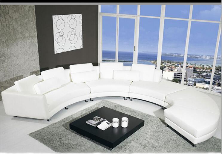 Galleria fotografica Stile moderno soggiorno divano in pelle Vera a1317