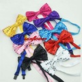 Sequin Bow Tie Neckwear Adjustable Unisex Bow Tie Fancy Dress Costume Party