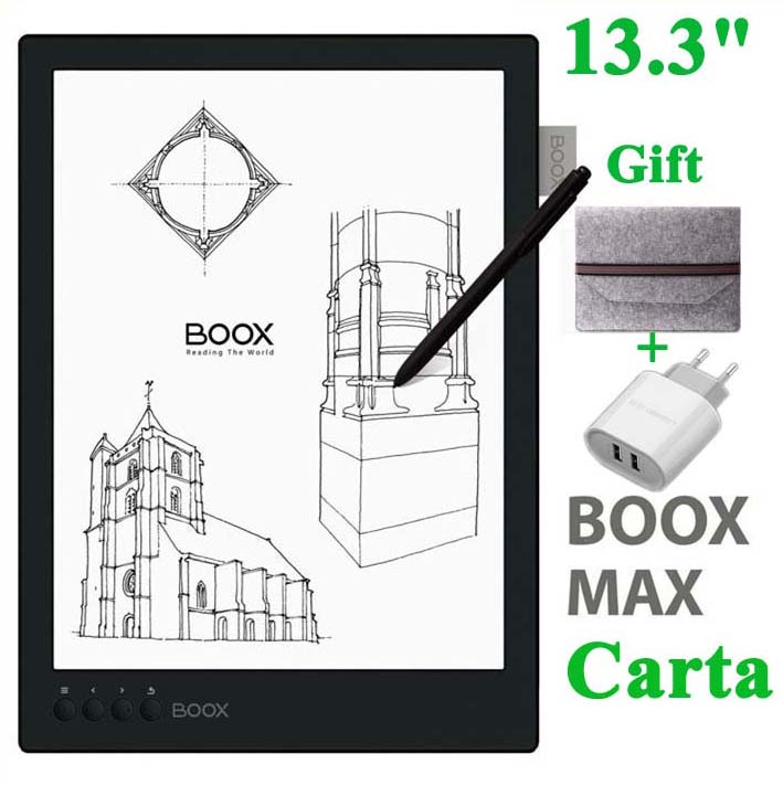 New BOOX MAX carta ereader 13.3 Flexible Screen 2200*1650 16GB 4100mAh Bluetooth WiFi ebook gift cover free shipping ...