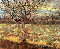 Wall art Apricot Trees in Blossom by Vincent Van Gogh paintings on canvas Handmade High quality