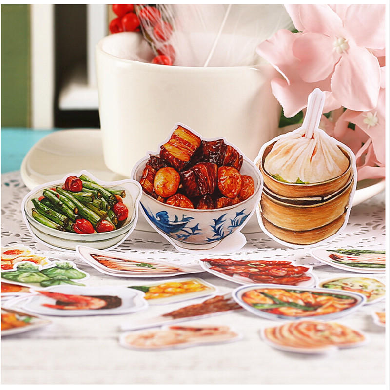 20pcs Creative Cute Self-made  Chinese Snacks/food Scrapbooking Stickers /Decorative Sticker /DIY Craft Photo Albums Kawaii