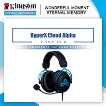 Kingston HyperX Cloud Alpha Cloud9 E-Olahraga Headphone dengan Mikrofon Headset Gaming untuk PC PS4 Xbox Ponsel(China)