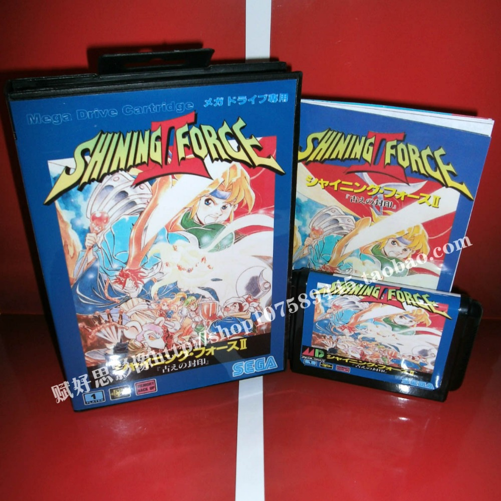 Shining force 2 Game cartridge with Box and Manual 16 bit MD card for Sega Mega Drive for Genesis