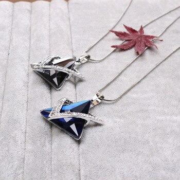 Magnifique collier de luxe sertie de strass Etoile de David  5