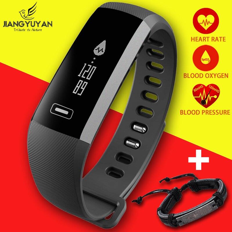 Спортивные часы браслет Для мужчин Для женщин Smart запястье сердечного ритма крови Давление кислорода оксиметр часы умный для iOS Android