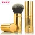Chegada nova alta qualidade maquiagem pincel Kabuki Professional único pincel de pó facial retrátil blush Brush