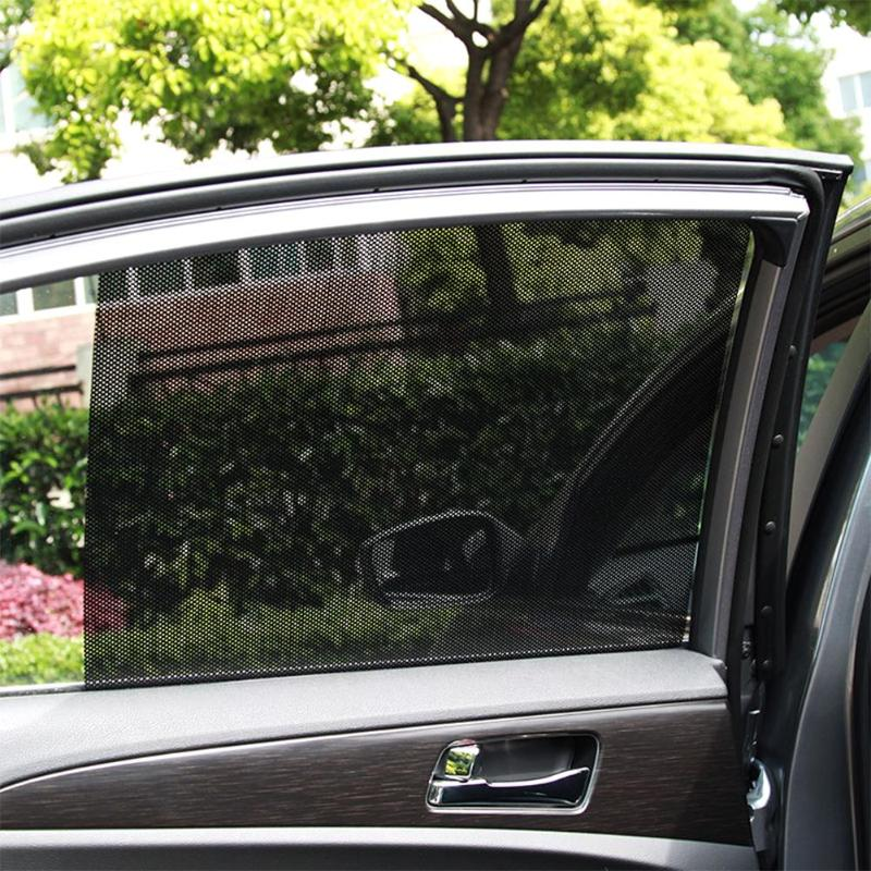 New 2Pcs Car Covers Window Sunshade Curtain UV Protection Shield Sun Shade Visor Mesh Solar Mosquito Dust Protection Car-covers