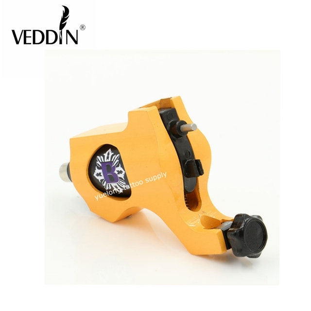 2016 New Electric Tattoo Machine Bishop Style yellow  Color Tattoo Machine With Aluminum Alloy Tattoo Gun Permanent Makeup Pen