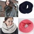 13 cores inverno cachecol mulheres infinito cachecol de malha de Cashmere lenço no pescoço mulheres Super Chunky de círculo baixada Unsex sólidos Crochet