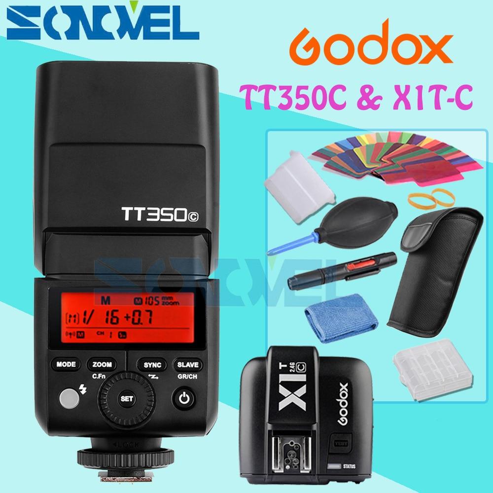 GODOX Mini TT350C TTL HSS max 1/8000s 2.4G Wireless X System Flash with X1T-C Transmitter for Canon PowerShot G7X G5X G3X SX60 zoom g3x