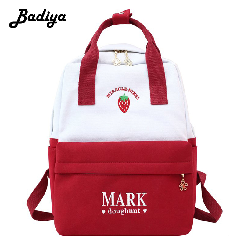 Women Fashion Canvas Backpack Travel Backpacks Teenagers Larger Capacity Girls School Bags Shoulder Bag Female Mochila Bolsa new gravity falls backpack casual backpacks teenagers school bag men women s student school bags travel shoulder bag laptop bags