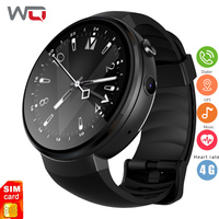 WQ Z28 Android Smart часы Для мужчин 4G Android 7,0 1G + 16G с gps камера Wi Fi gps Сердечного ритма Фитнес трекер gps Smartwatch Android