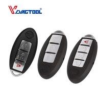 Vdiagtool-carcasa de llave inteligente para coche, cubierta de llave de entrada sin llave para Nissan Sentra Versa Teana Fob 2, 3 y 4 botones