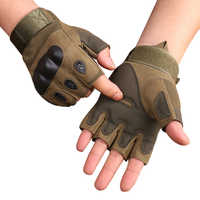 Men's Tactical Gloves Military Army Fingerless Gloves Outdoor Sports Anti-Slip Shooting Paintball Airsoft Bicycle Gloves
