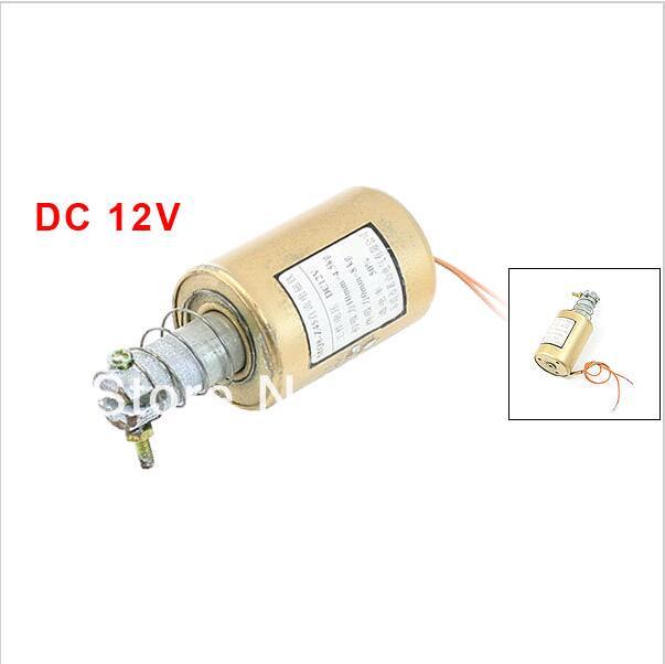 MQ8 DC 12V 10mm Stroke 4.5Kg Force Pull Type Tubular Frame Linear Motion Solenoid Electromagnet 24v pull hold release 10mm stroke 6 3kg force electromagnet solenoid actuator