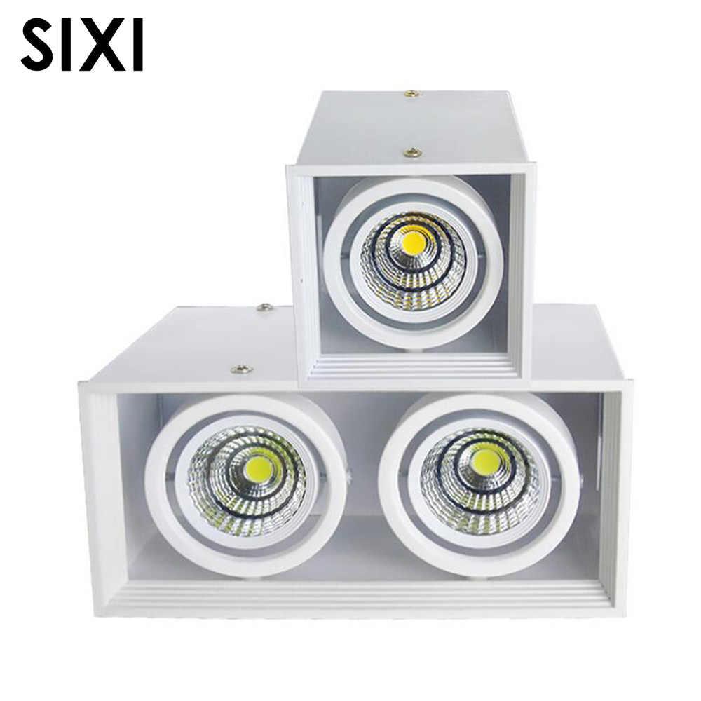 X8 прямая установка COB Led bean Галогеновый светильник решетка света 7 Вт 10 Вт 15 Вт потолочный прожектор bean Галогеновый светильник ing one double head лампа