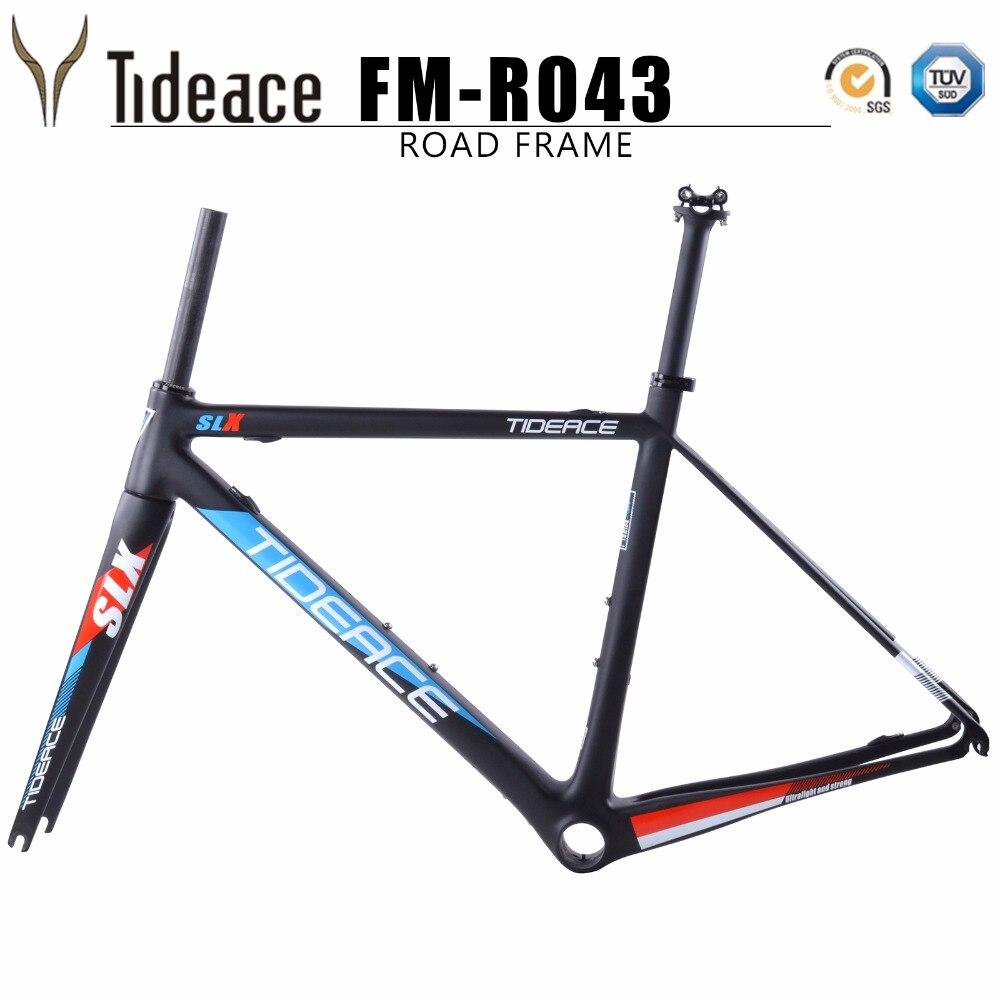 Tideace 2018 NEW design Super light 48/51/54/56cm Di2 mechanical road bike frame Carbon Bike Frame Bicycle Road Frame T800 автоинструменты new design autocom cdp 2014 2 3in1 led ds150