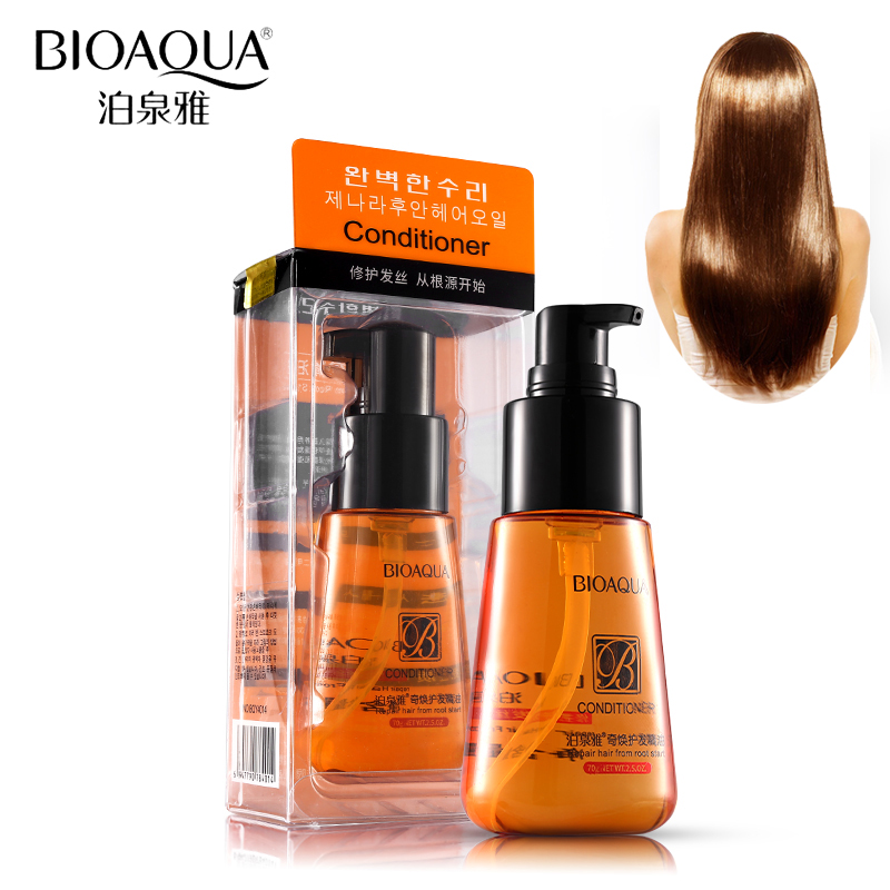 70ml BIOAQUA Moroccan Oil Pure Argan Oil Oil Essential For For Furry Hair Hair Keratin Repair Riparimi i Kujdesit për Flokët