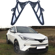 Принадлежности для шашлыков @ FUKA автомобиля DRL Дневные бег туман свет дневной лампы белый/желтый Toyota CHR 2017 2018 автомобиля внешние аксе