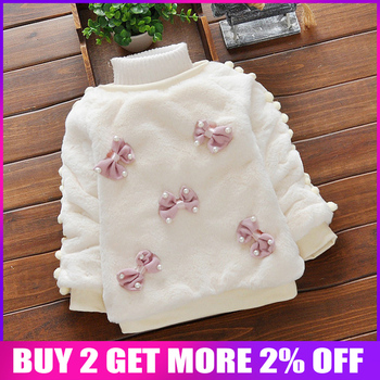 866117ffb Bibicola bebé niñas suéter toddle los niños ropa infantil de dibujos  animados de invierno suéter de bebé de terciopelo grueso de lana casual  abrigo