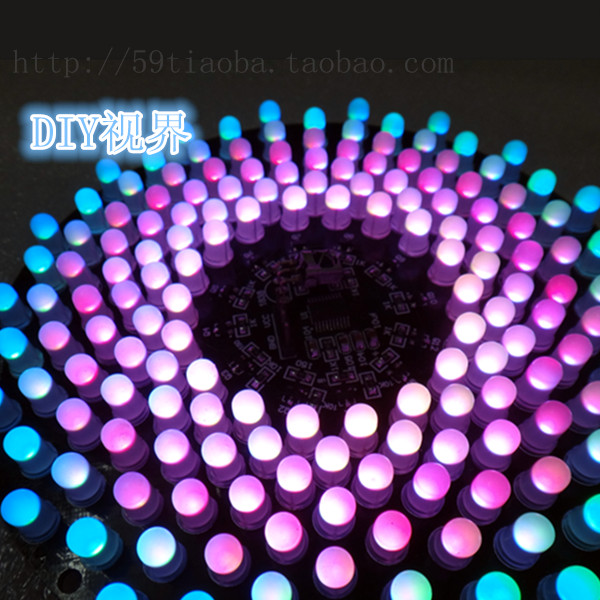 The aurora DIY LED suite RGB electronic parts kit electronic competition kit SCM Training Kit lm358 breathing light parts electronic diy fun making kit led blue flashing kit