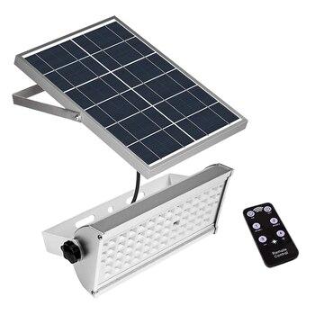 65 светодиодов Солнечный свет 1500Lm 12 Вт прожектор дистанционное управление Открытый водонепроницаемый светильник с солнечной батареей