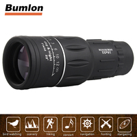 16X52 HD Monocular Telescope Dual Focusing Adjustment Low Light Night Vision Binocular Spotting Scope Hunting Watching