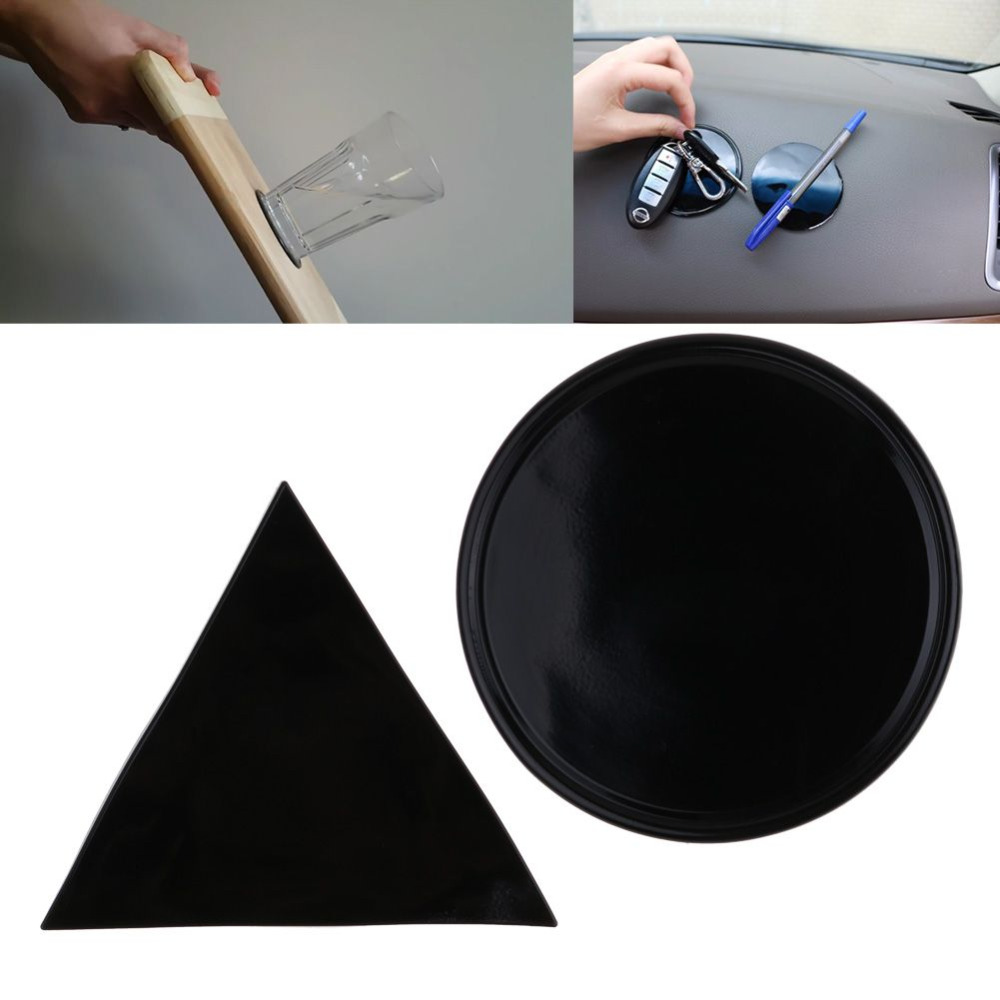 1pcs Fixate Gel Pads No LOGO Pure Black Strong Stick Glue Anywhere Wall Sticker Convenient Household Items Support Dropshipping