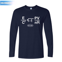 Kolvonanig 2017 fall grappige wiskundige formule t-shirt mannen t-shirt casual o-hals lange mouwen katoen top tees gratis verzending ape