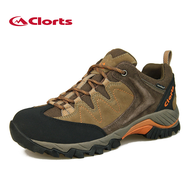 Clorts outdoor Men's Cow Suede Hiking Shoes Breathable anti-skid wear-resistant Waterproof Sports damping camping Sneakers Boots sneakers running shoes sports men and women shoes rubber sole anti skid wear student shoe low upper waterproof air cushion hot
