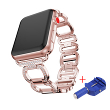 Купить с кэшбэком CRESTED Stainless Steel watch Strap For Apple Watch Band 42mm/38mm Smart Watch link bracelet Metal Band for iWatch Series 3 2 1