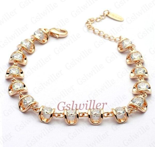 Free Shipping Italina Rigant Fashion Wholesale Jewelry 18k gold plated Austrian Crystal Bracelet Girlfriend Gift