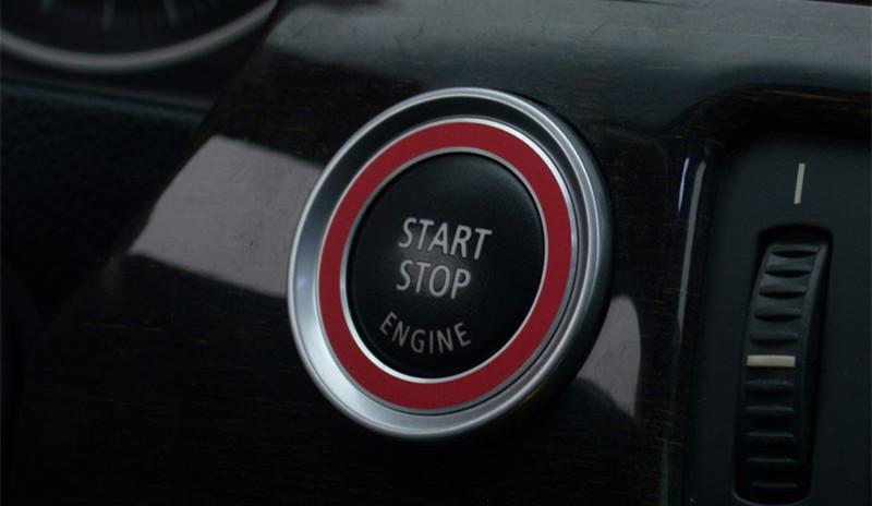 Car Start Stop Button Cover Trim For BMW 3 Series E90 318 320 325i 2009 12  Aluminum Engine Power Push Button Decorative Ring Car Inner Decoration Car