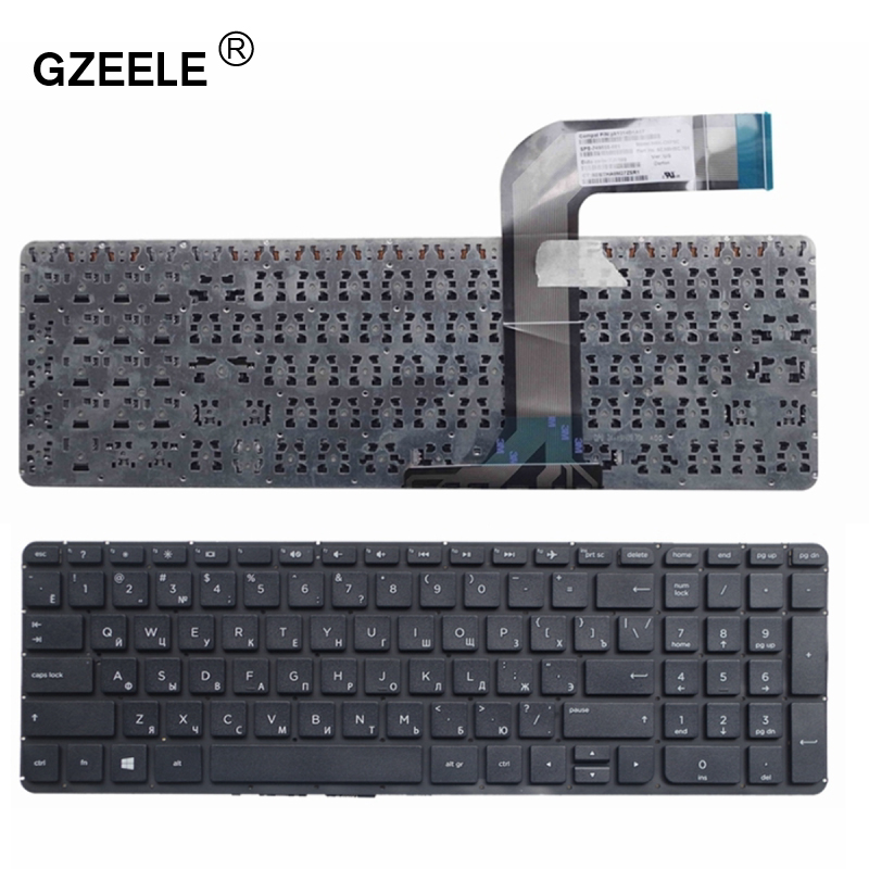 GZEELE Russian Laptop Keyboard For HP Pavilion 15-P 17-F 17-F000 17-F040 17-F115 15-p011st 15-p012st 15-p014st 15-p015st BLACK